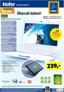 Hofer Netbook chiligrenn Pico GT